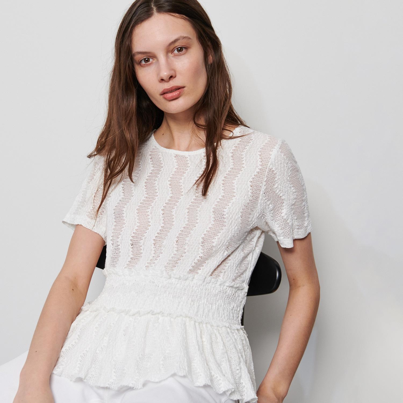 Ażurowa bluzka – Biały Reserved 1310A-00X