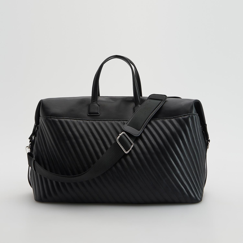 Reserved - Cestovní taška skapsami - Černý