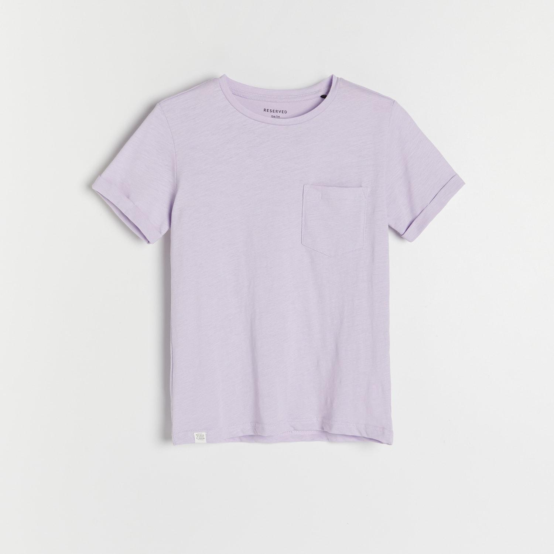 Reserved - Žíhané tričko skapsou - Fialová