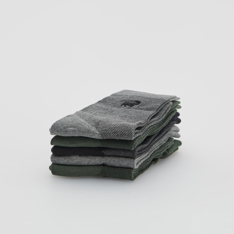Reserved - Sada 5párů vzorovaných ponožek - Šedá