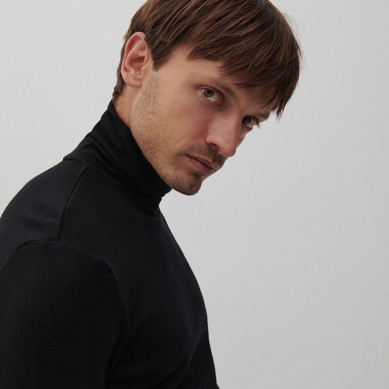 Reserved - Bavlněný rolák basic - Černý