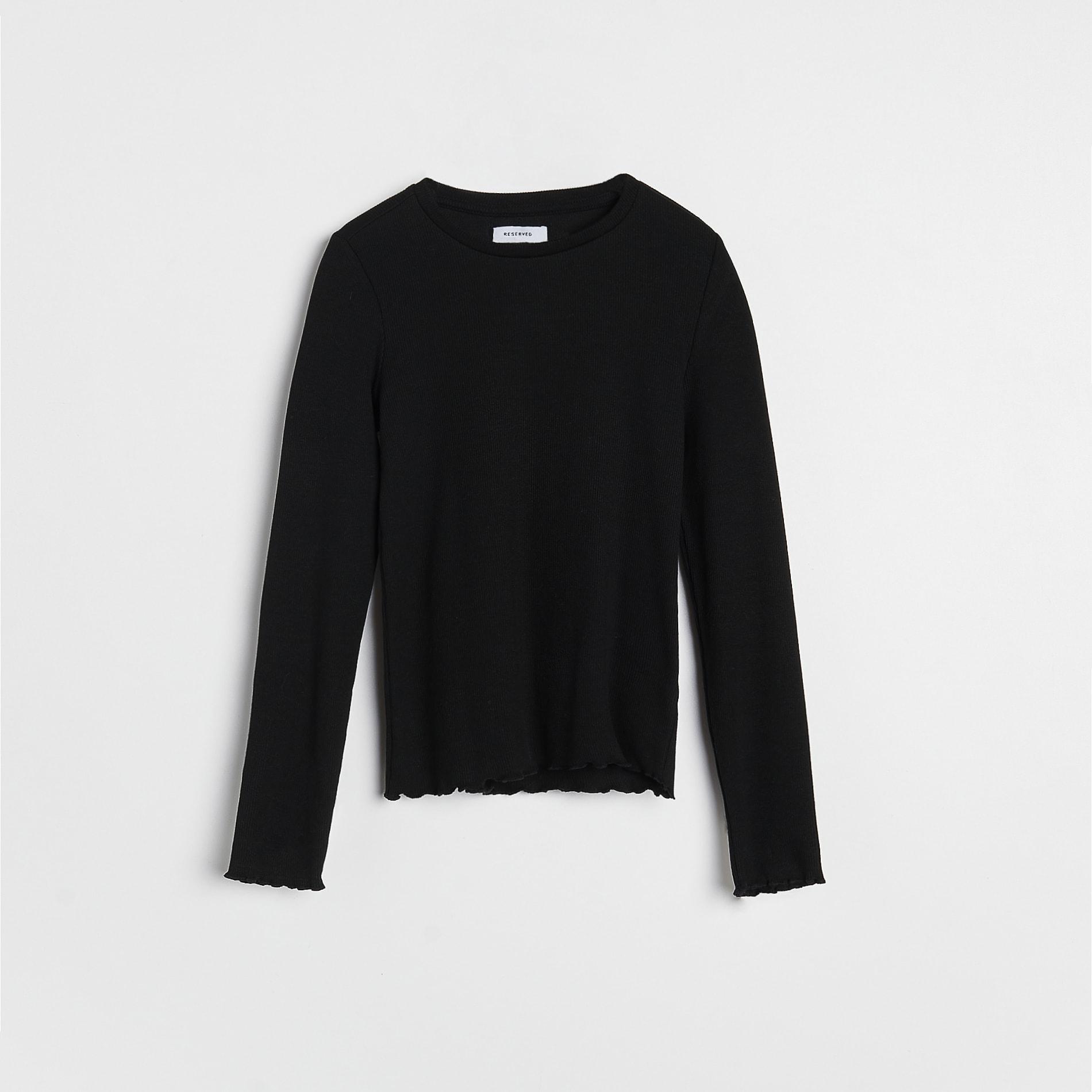 Reserved - Tričko s dlouhým rukávem - Černý
