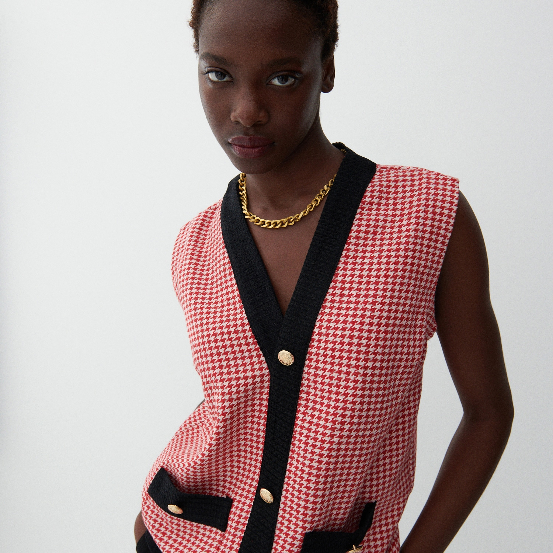 Reserved - Vzorovaná vesta - Vícebarevná