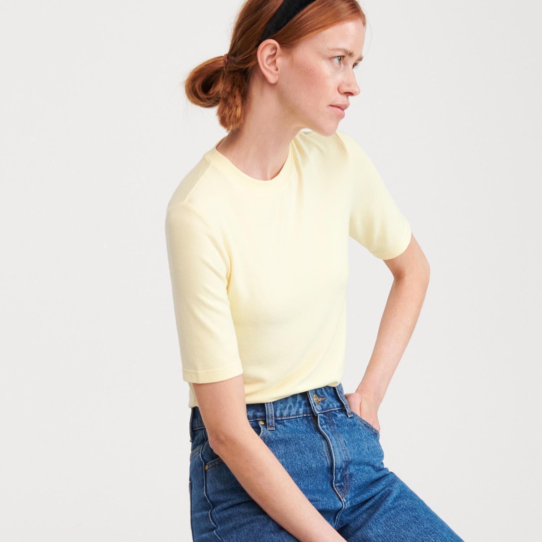Reserved - Žerzejové tričko - Žlutá