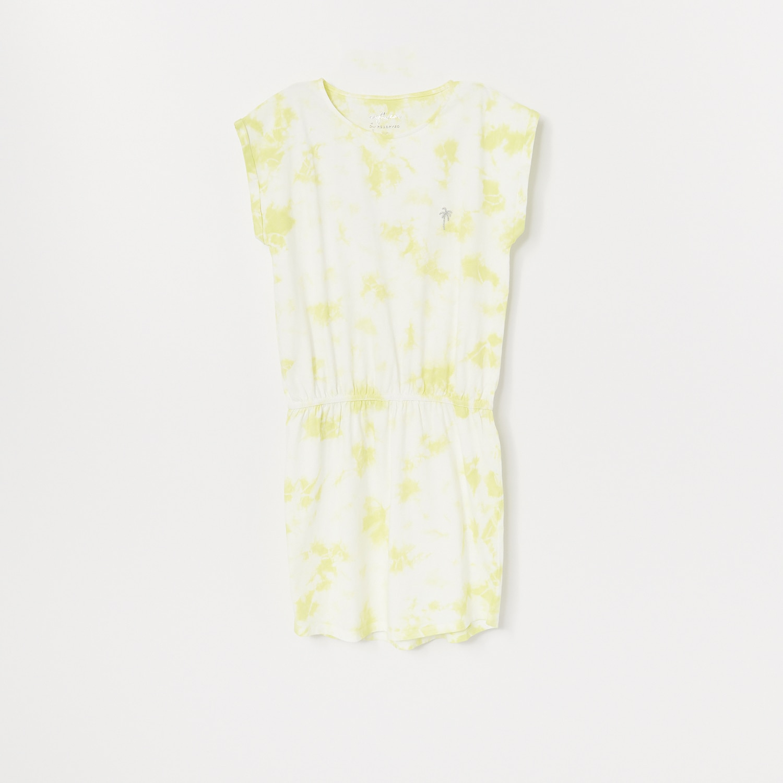 Reserved - Noční košilka sbatikovaným efektem - Žlutá