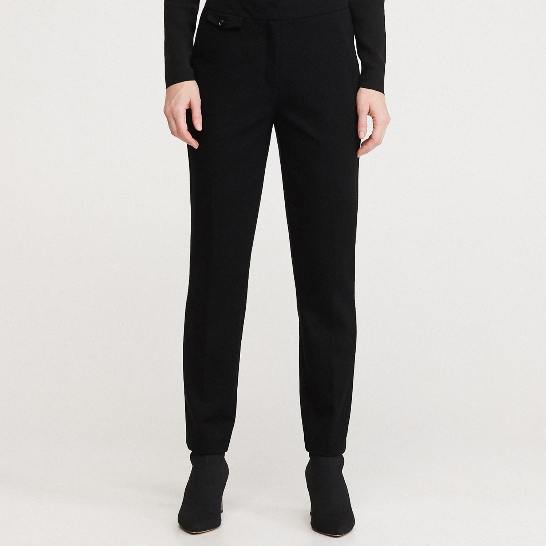 Reserved - Kalhoty s rovnými nohavicemi - Černý