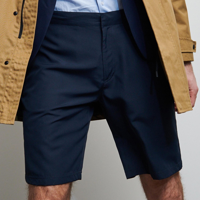 Reserved - Chino šortky voľného strihu - Tmavomodrá