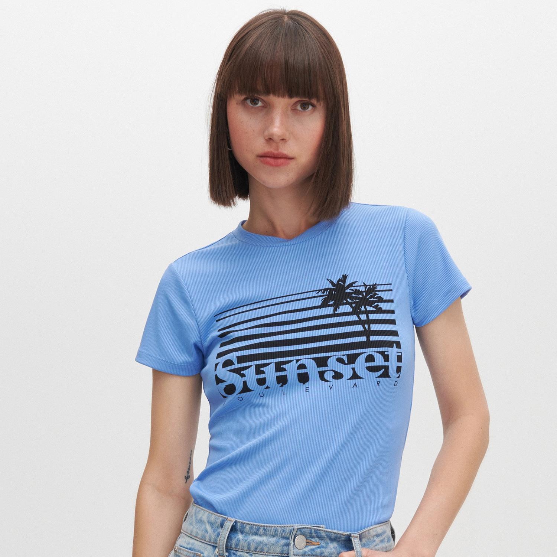 Reserved - Tričko s potlačou - Modrá