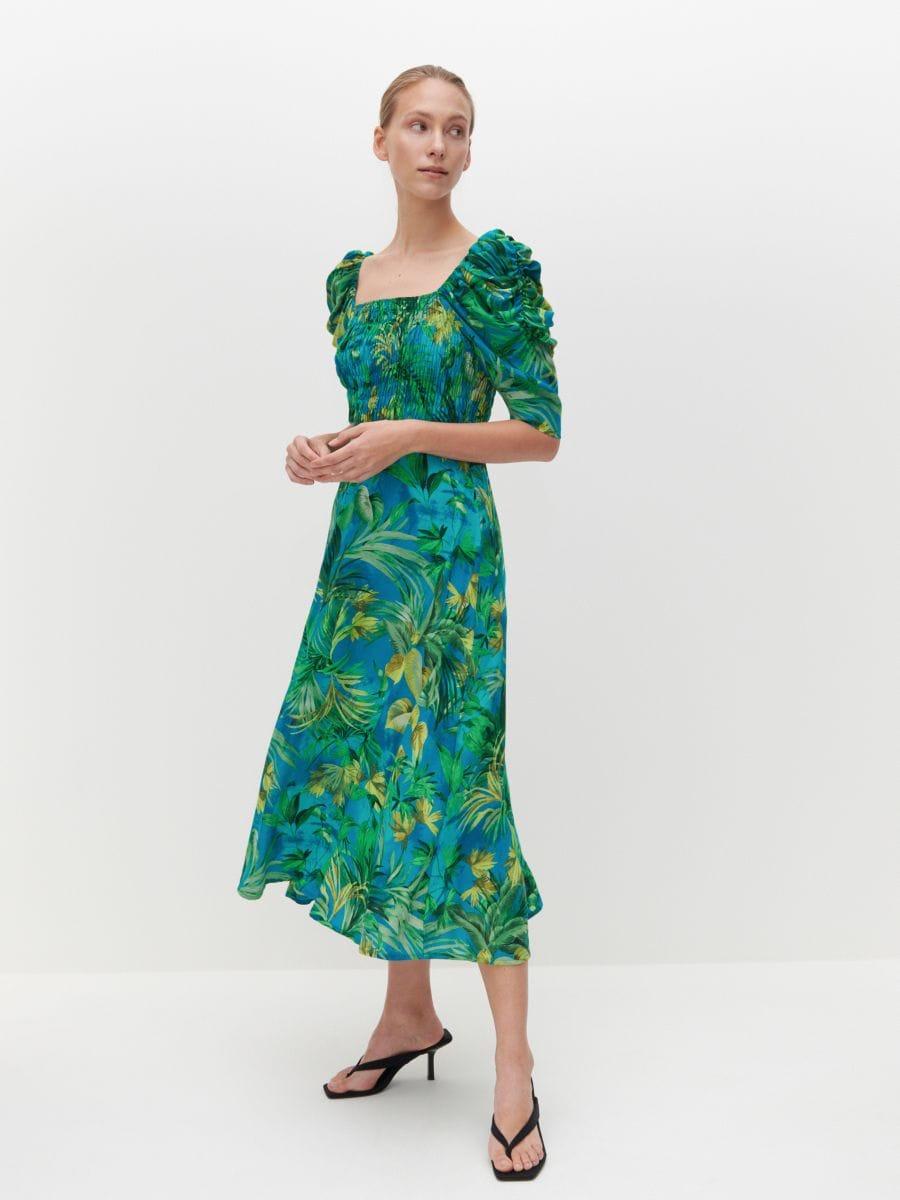 jetzt shoppen! kleid mit puffärmeln, reserved, 3098a-mlc