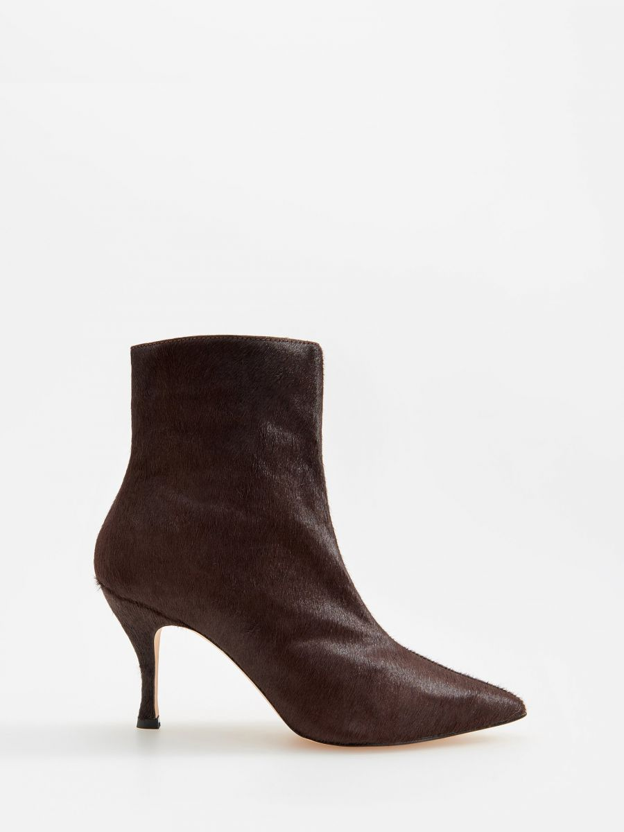Buy online! Leather high heel ankle boots, RESERVED, WM961 89X