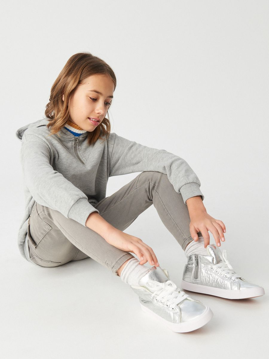 Buy online! Shiny high ankle trainers