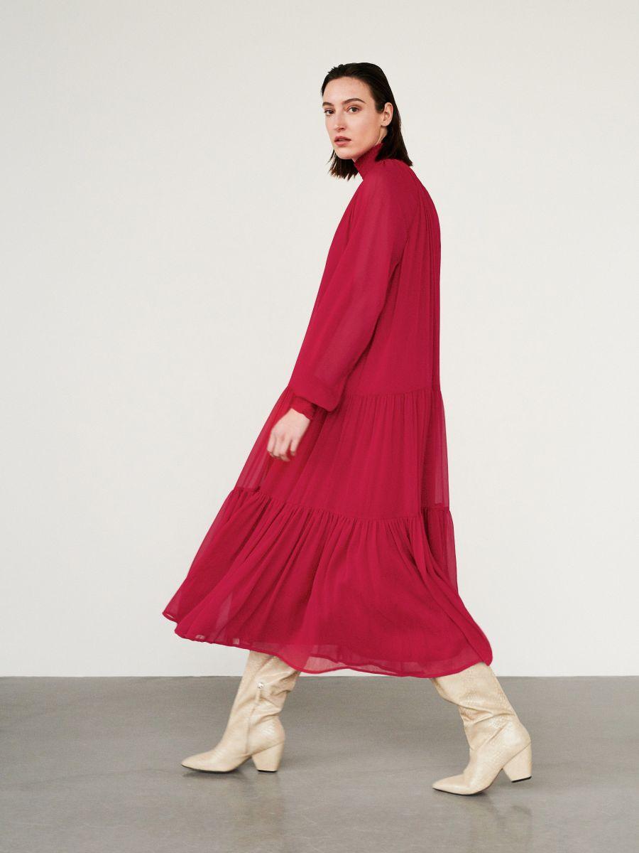 Sukienka z falbanami, RESERVED, YB888 33X