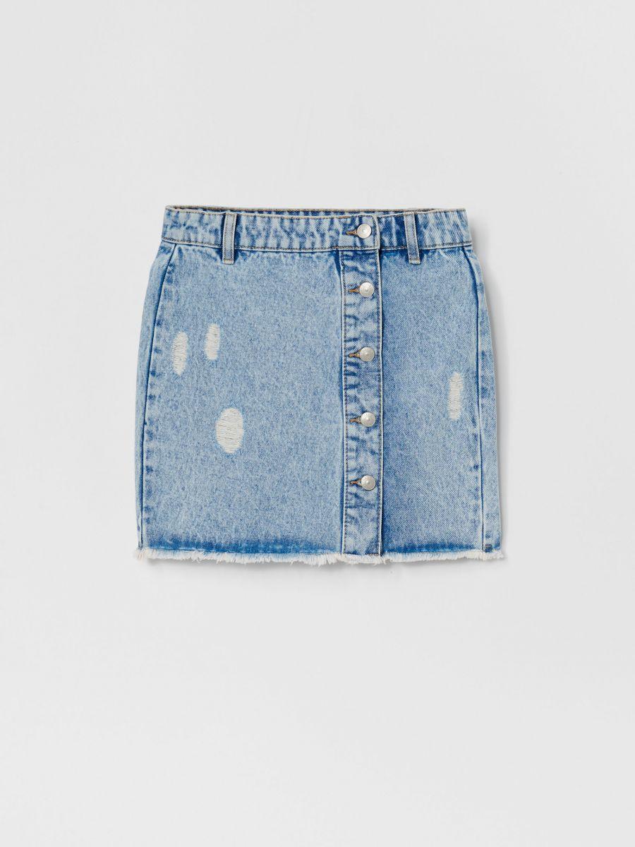 Reserved Spódnica z lampasami Niebieski Ceny i opinie
