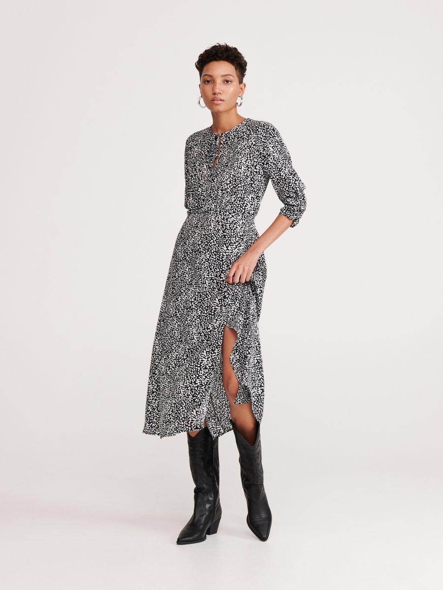 Wzorzysta sukienka, RESERVED, YL535 MLC