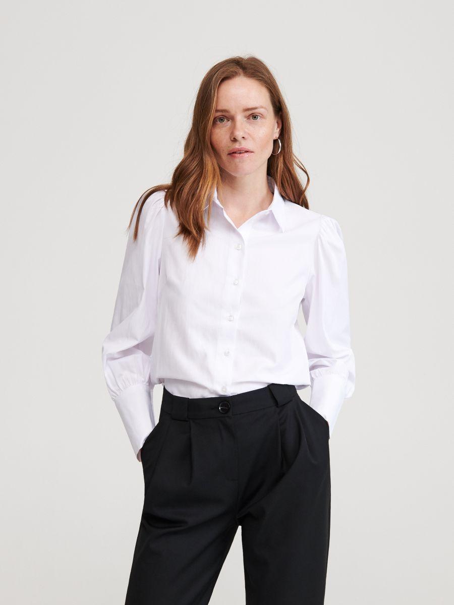 Koszula z bufiastymi rękawami, RESERVED, ZO294 00X  BLHZ8