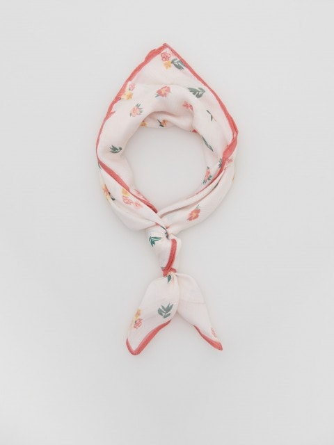 Neckerchief with flower print