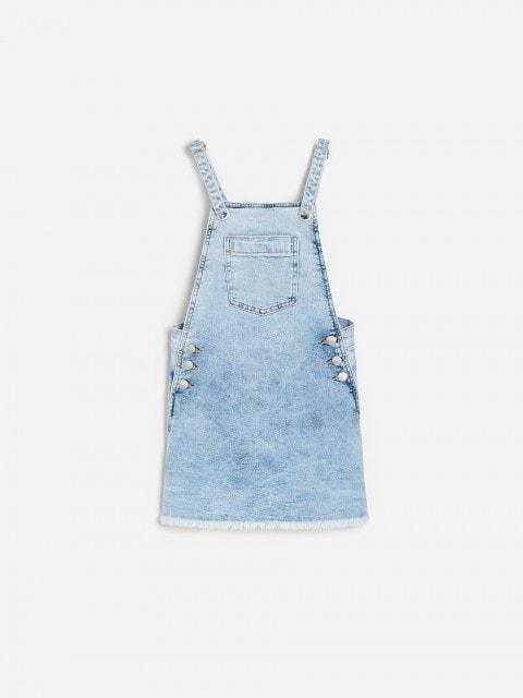 Jeansowa spódnica ogrodniczka