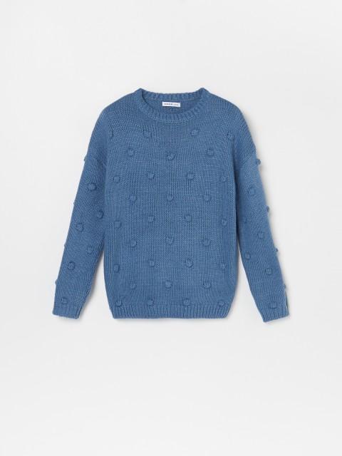 Sweter ze strukturalnej dzianiny