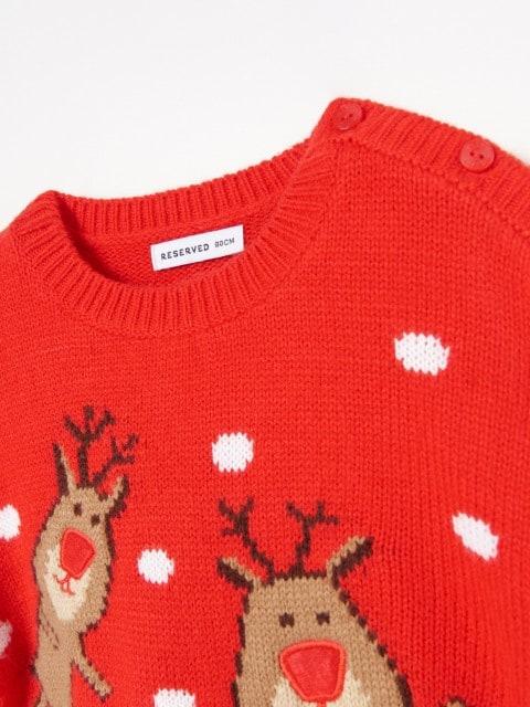 Sweter ze świąteczną aplikacją