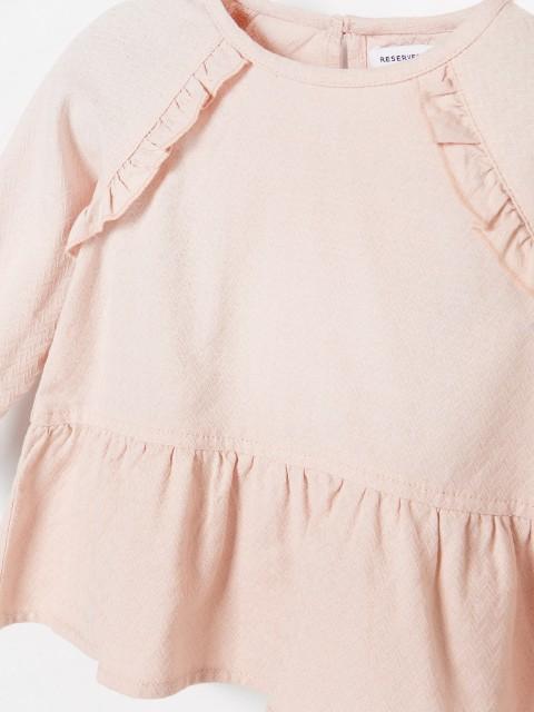 Bawełniana bluzka z falbanami