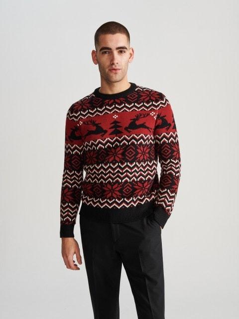 Sweter ze świątecznym wzorem