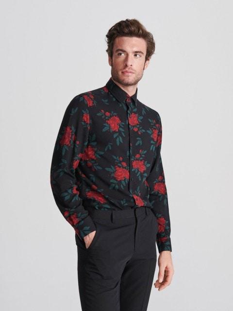 Wzorzysta koszula comfort fit