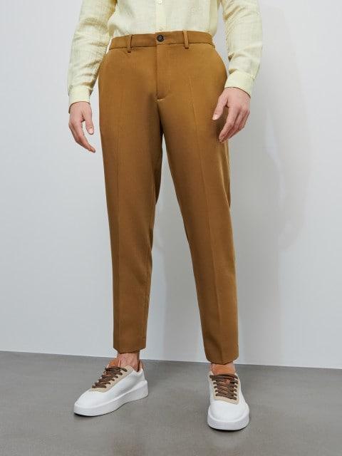 Eleganckie spodnie z elastycznym pasem