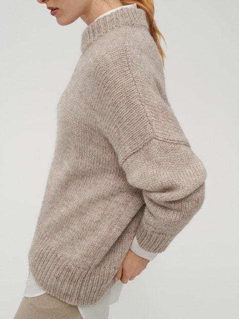 Sweter z wełną alpaki