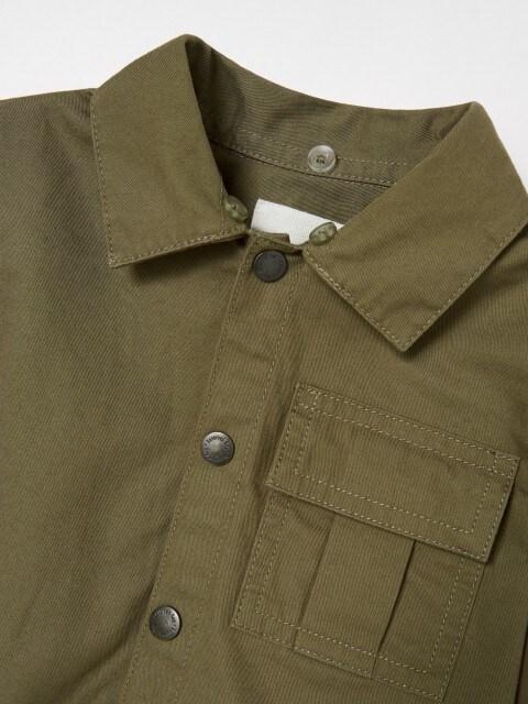 Jeansowa koszula z odpinanym kapturem