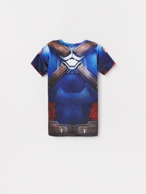 T-shirt z imitacją stroju Kapitana Ameryki