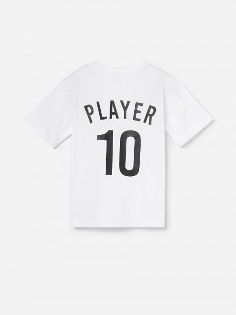Bawełniany t-shirt w piłkarskim stylu