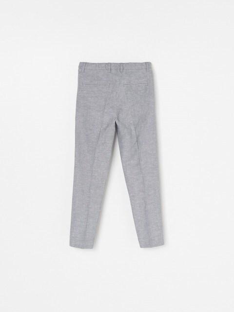 Spodnie garniturowe z lnem