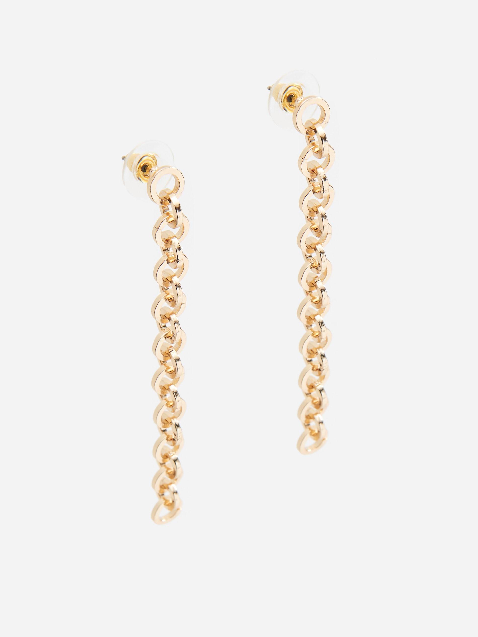 Długie kolczyki w kolorze złota