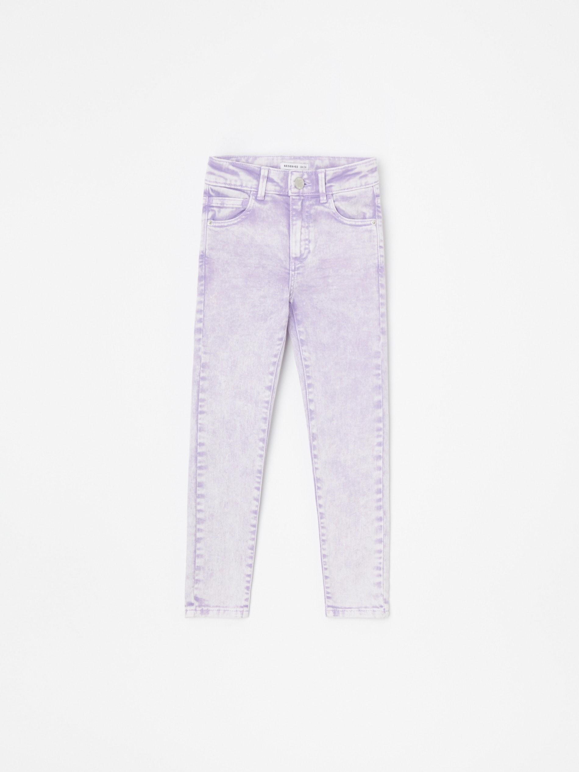 Marmurkowe spodnie jeansowe