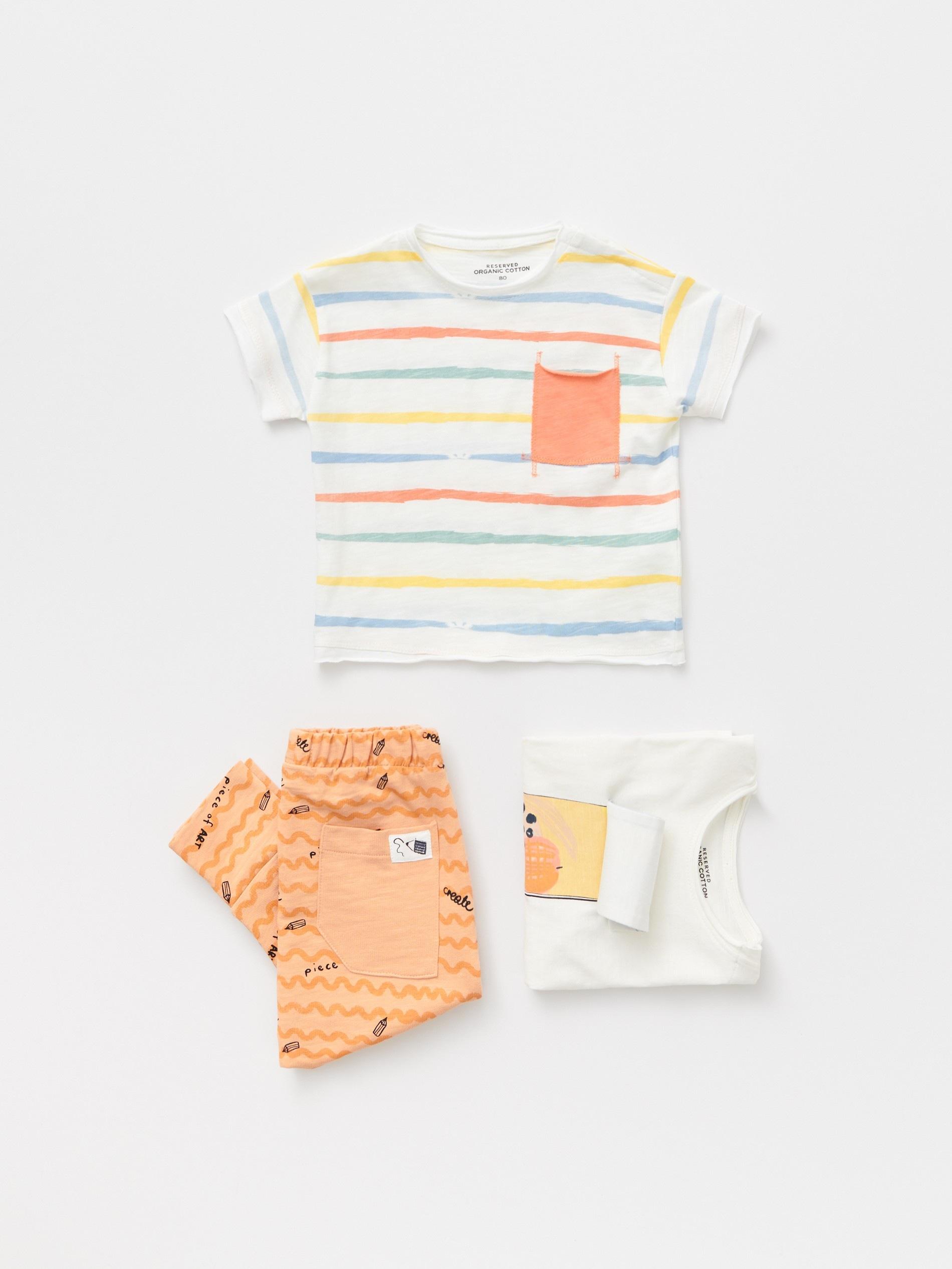 Bawełniany t-shirt ze wzorem