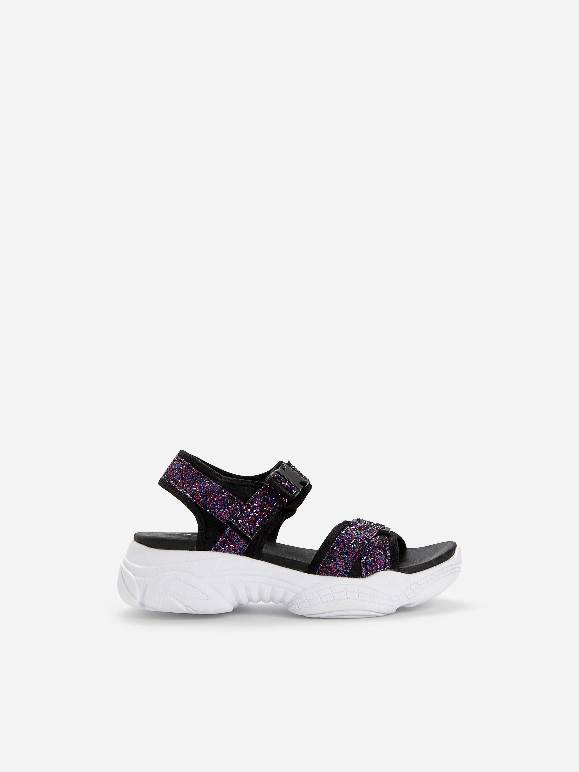 Sandały z brokatowymi paskami