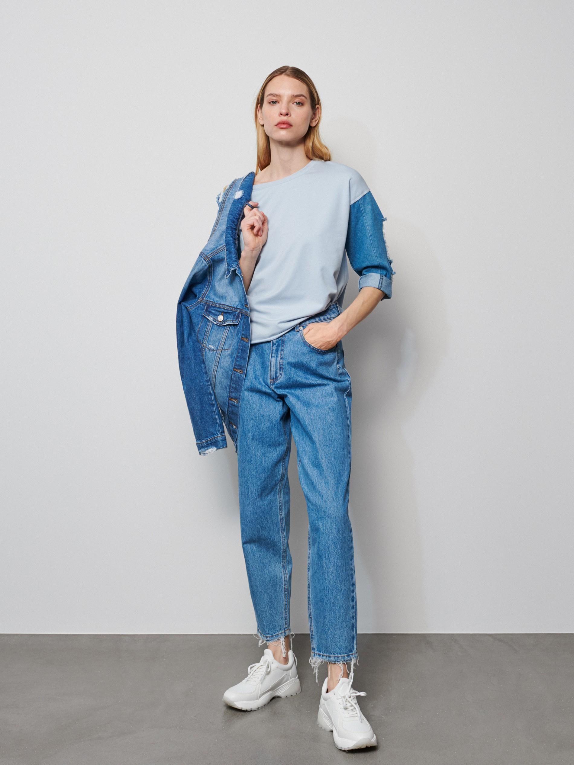 Bluzka z jeansowymi rękawami