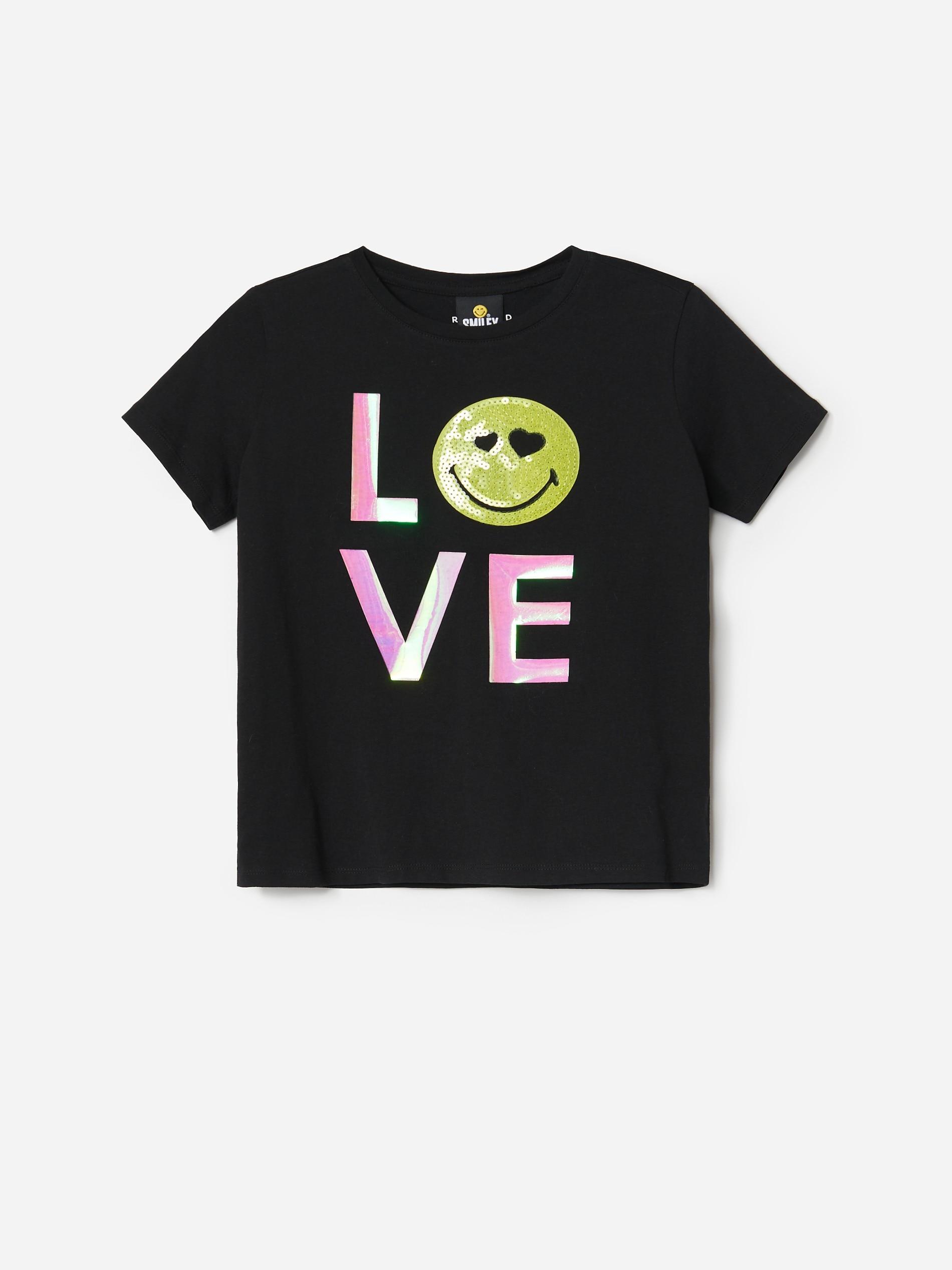Bawełniany t-shirt Smiley
