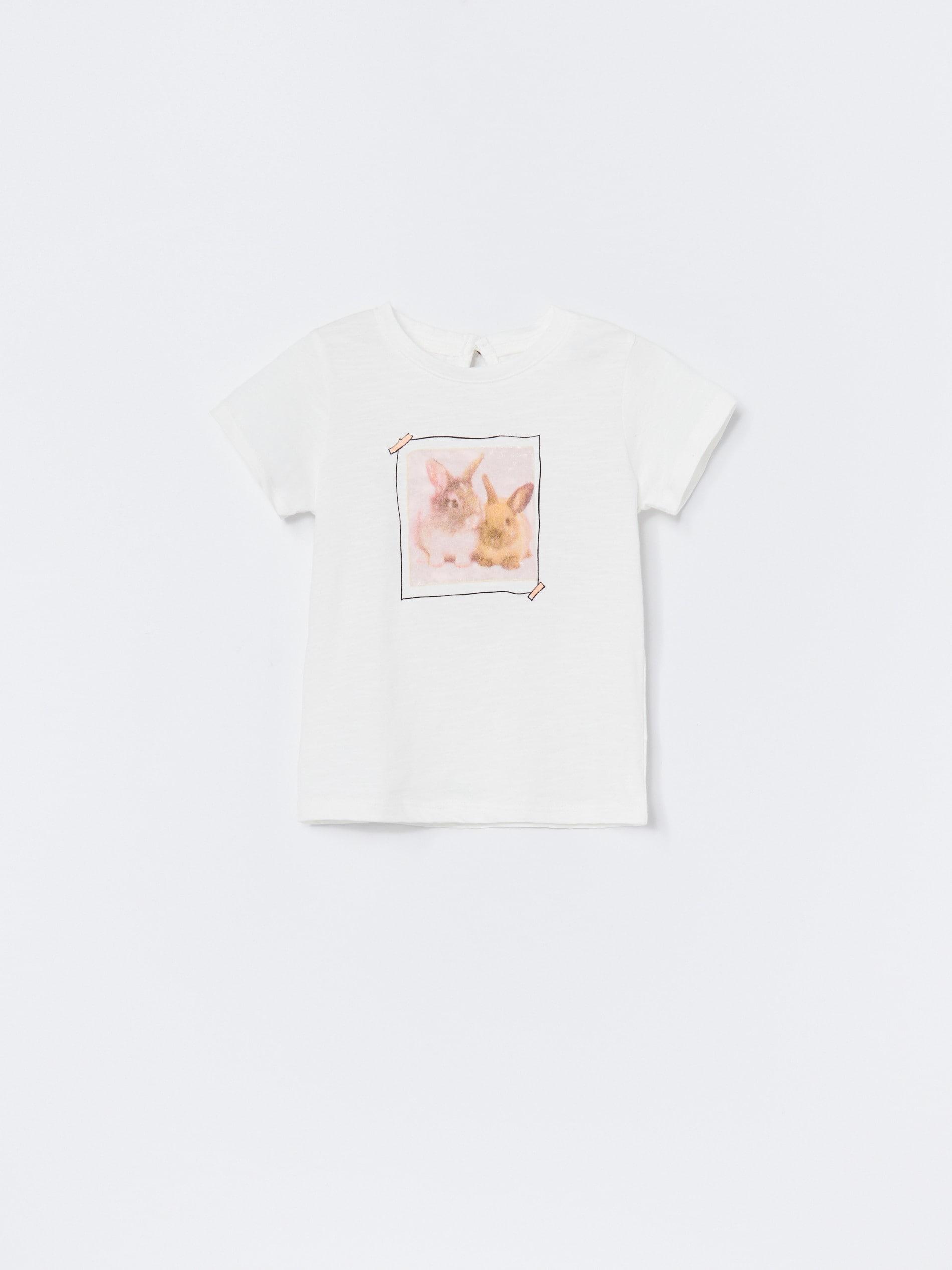Bawełniany t-shirt z aplikacją