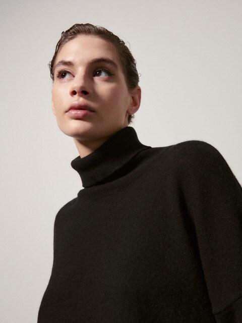 PREMIUM Sweter z recyklingowanym kaszmirem