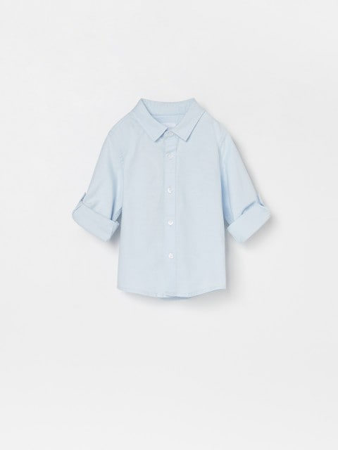 Koszula z podwijanymi rękawami