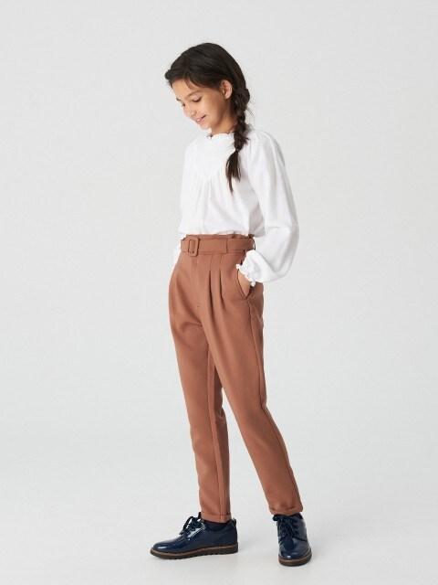 Luźne spodnie z paskiem