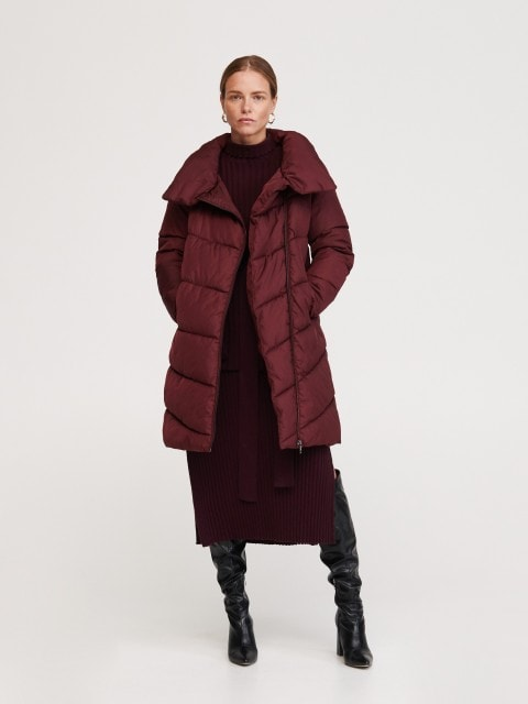 Ocieplany płaszcz