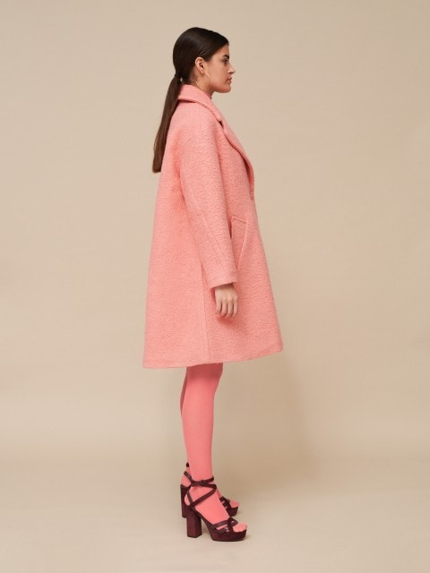 Pardesiu roz cu lână