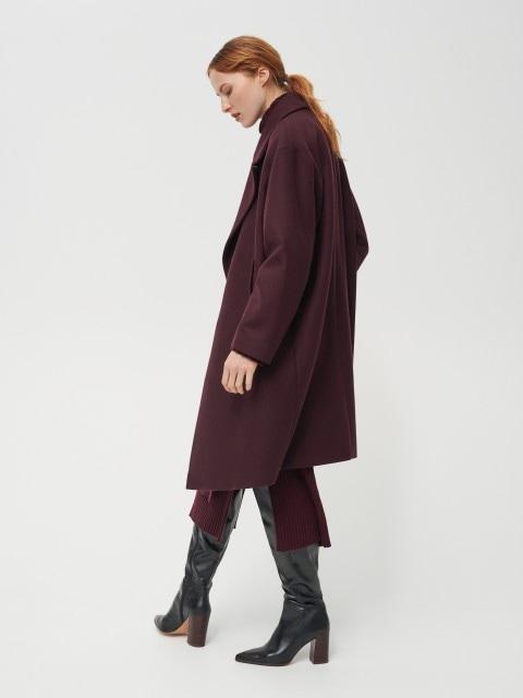 Palton cu rând dublu de nasturi și conținut ridicat de lână