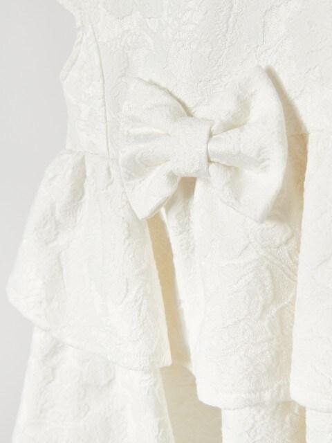 Rochie cu volănașe și model jacard
