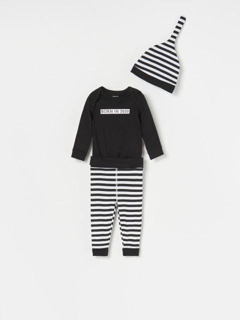 Body, pantaloni și fes pentru bebeluși