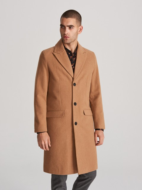 Palton cu amestec de lână
