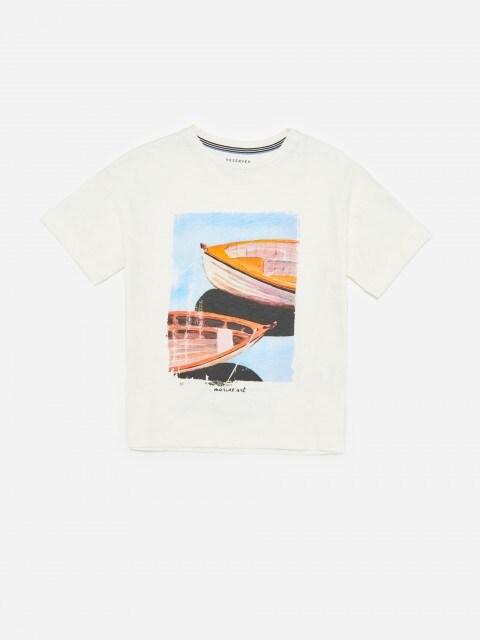 Tricou din bumbac cu imprimeu
