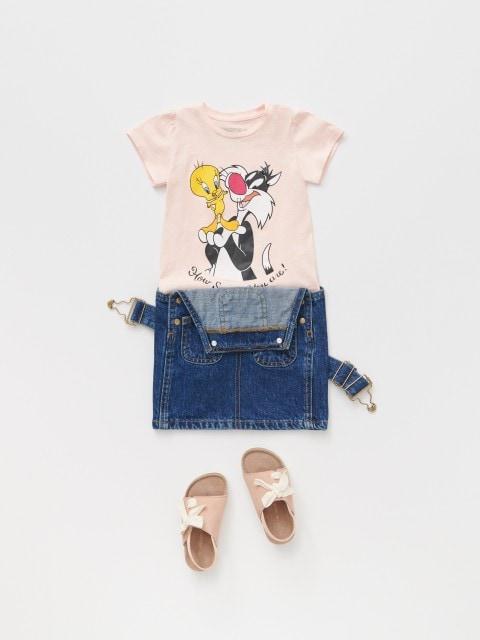 Tricou din bumbac cu imprimeu Looney Tunes